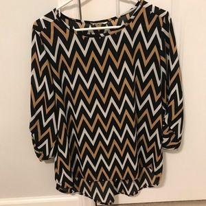 Chevron 3/4 sleeve blouse